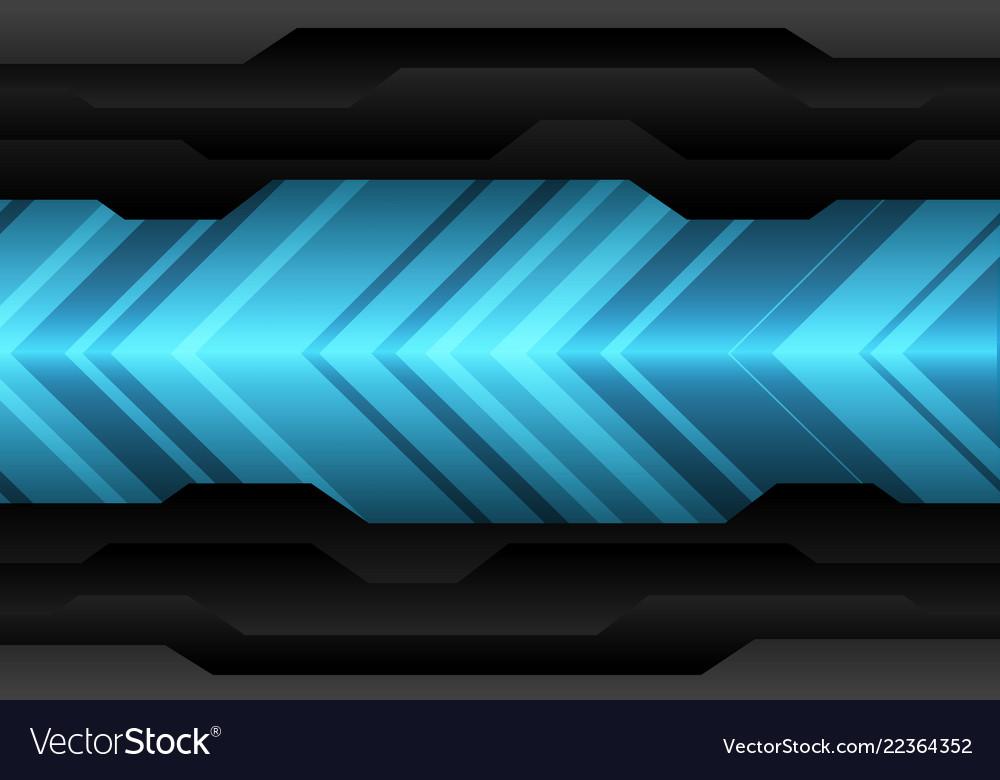Blue arrow light pattern direction on black