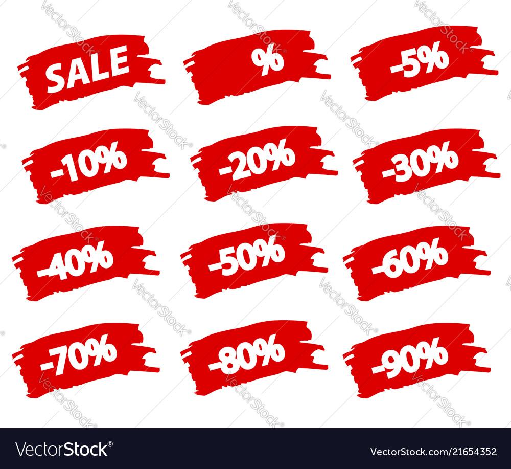 Brushstroke sale red set offer discount tag