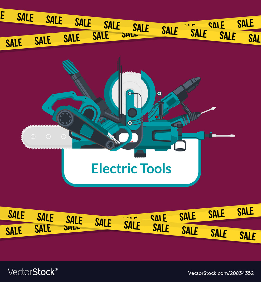 Electric construction tools sale background