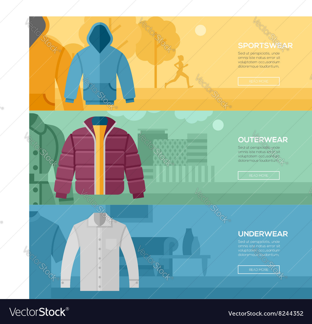 Flat design concept every day clothes