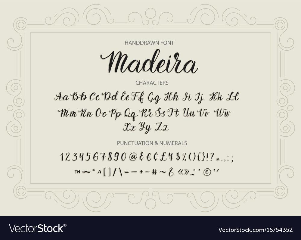 Handdrawn script font brush style texture