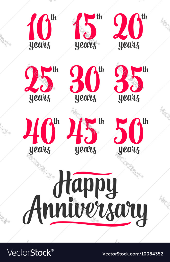 Happy anniversary sign collection