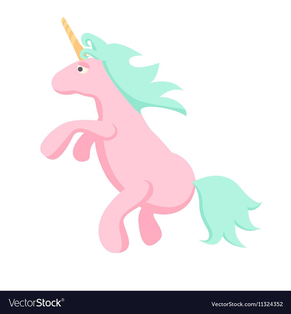 Pink unicorn isolated