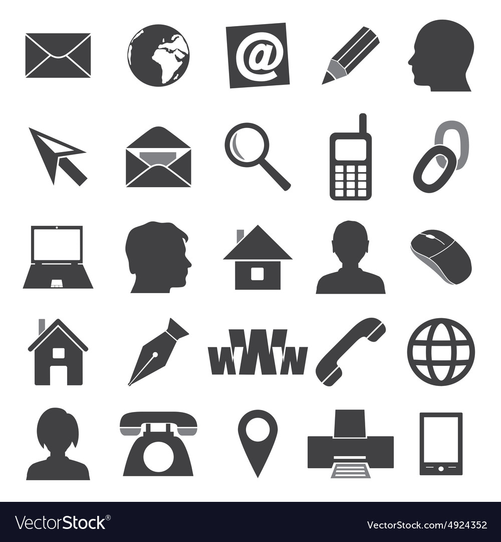 Simple icons for business card and everyday use vector image reheart Gallery