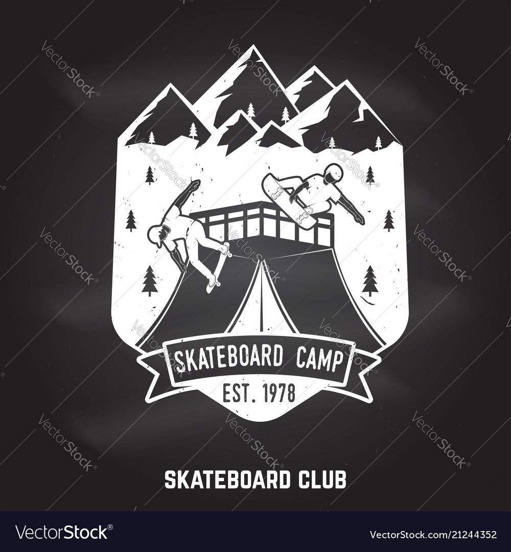 Skateboard club badge