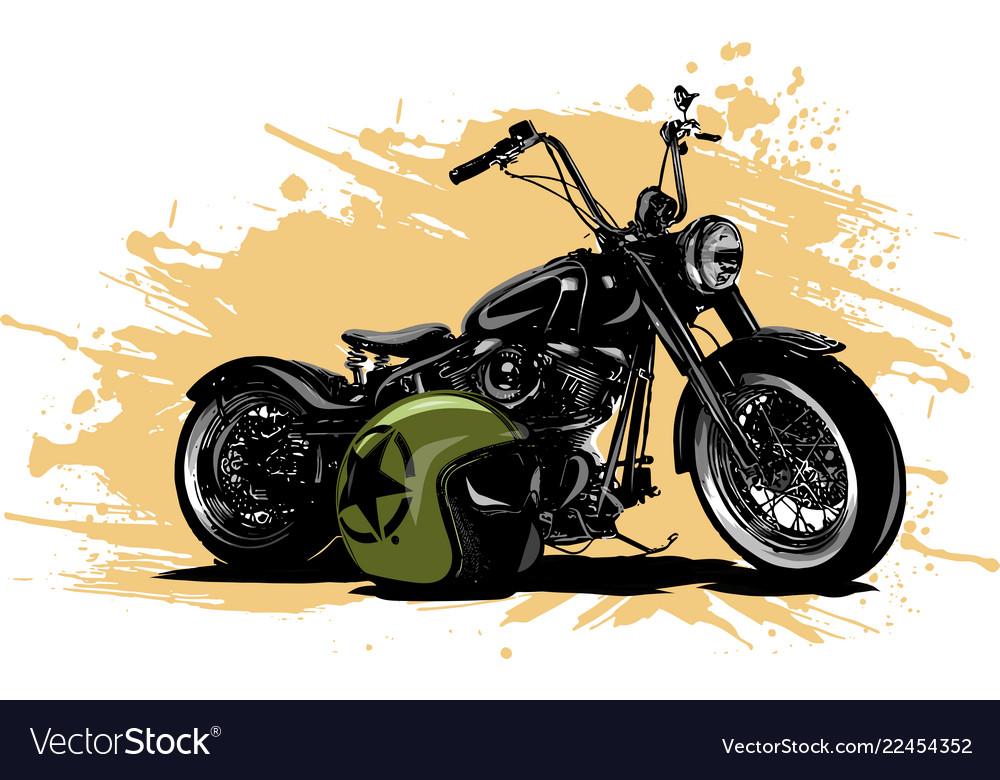 Vintage chopper motorcycle