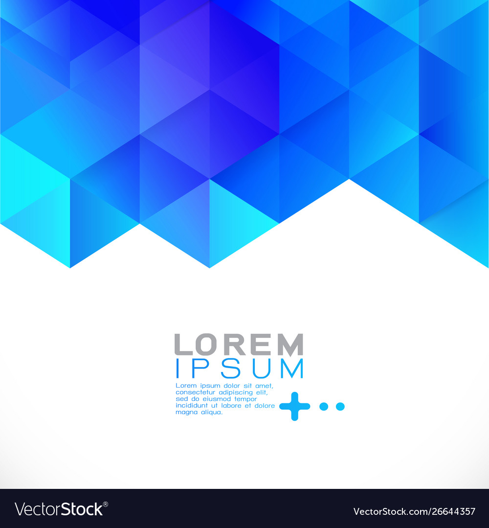 Abstract blue gradient geometric template modern