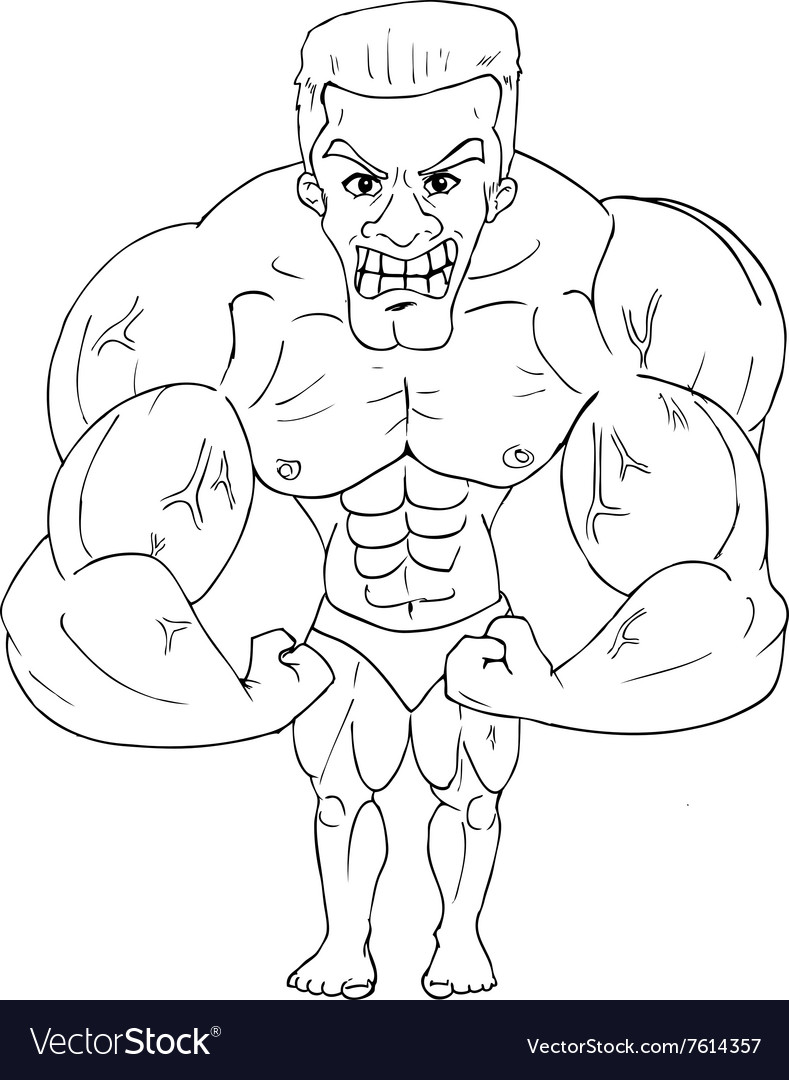 Bodybuilder Cartoon vector image