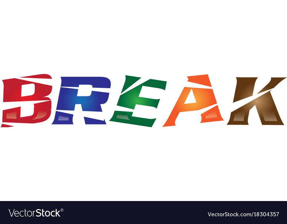 Break logo vector image
