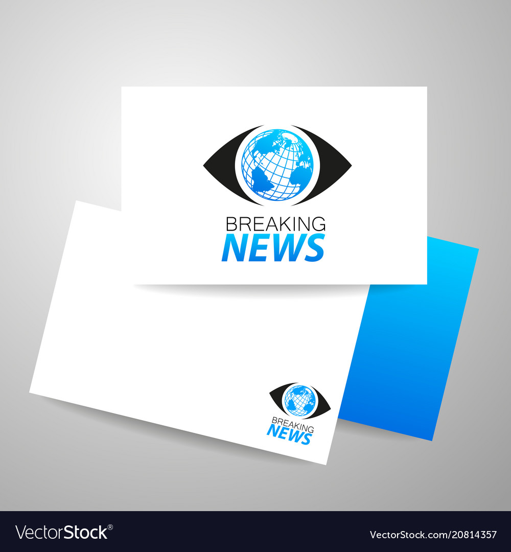 Breaking news logo template Royalty Free Vector Image