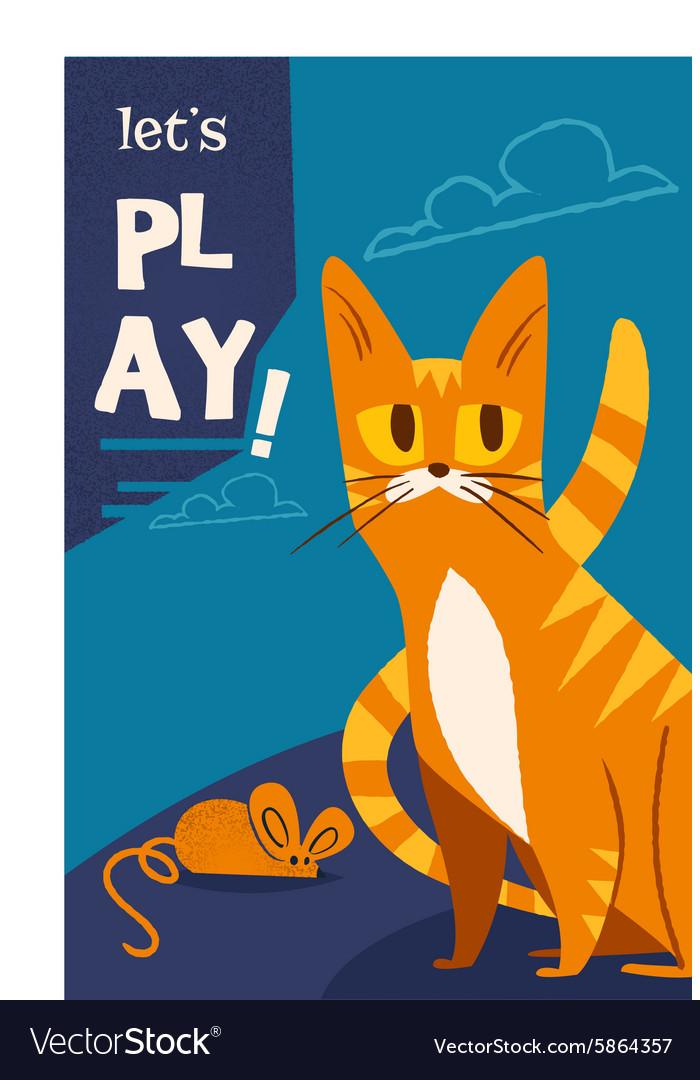 Cartoon cat design