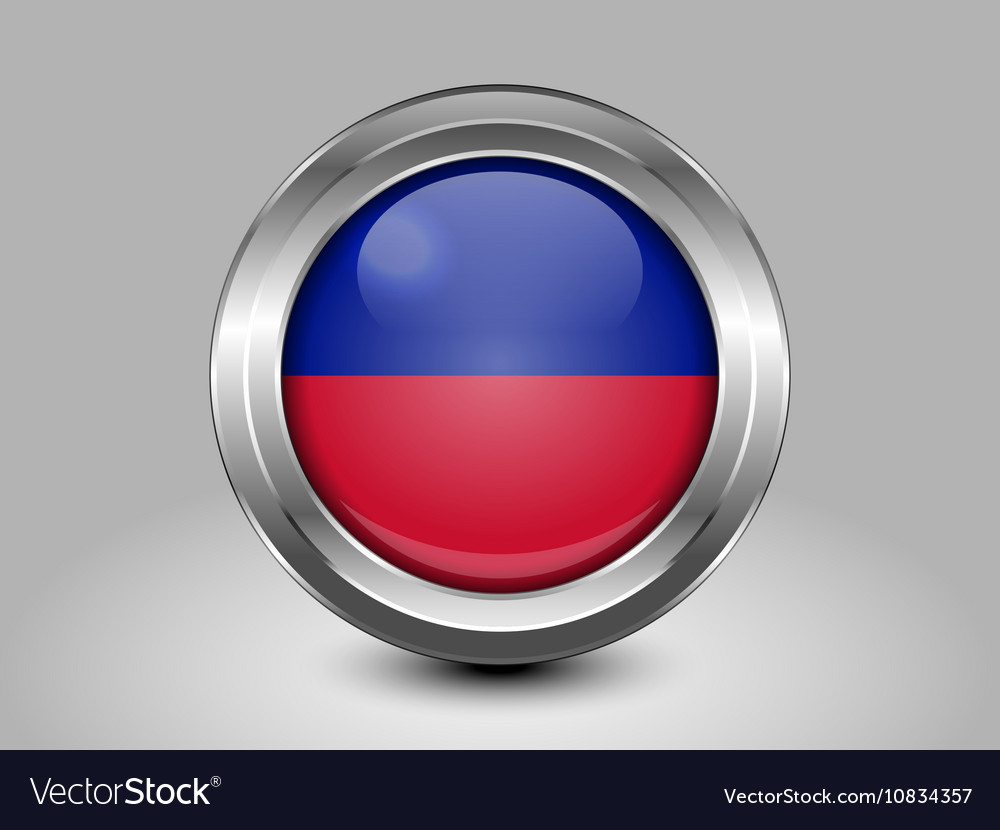 Flag of Haiti Metal and Glass Round Icon