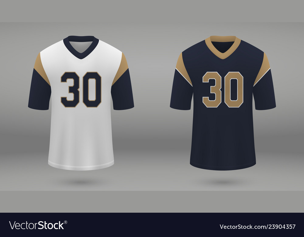 Realistic american football jersey Royalty Free Vector Image