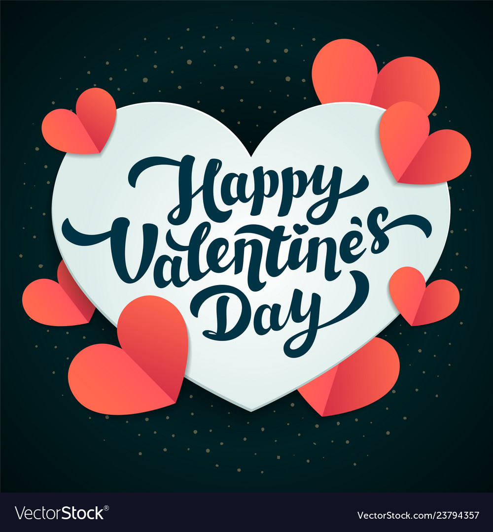 Valentines day greeting card 14th of february