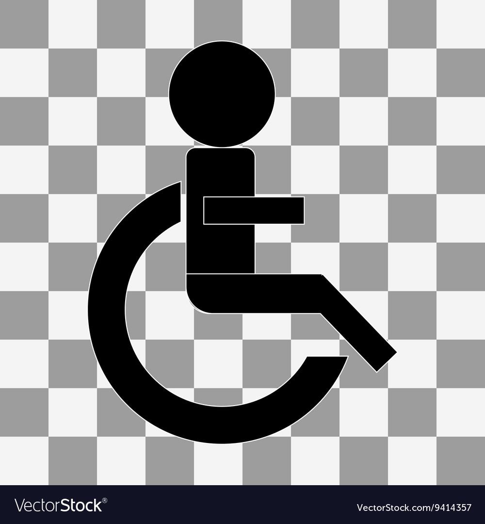 Wheelchair Handicap Icon on a transparent