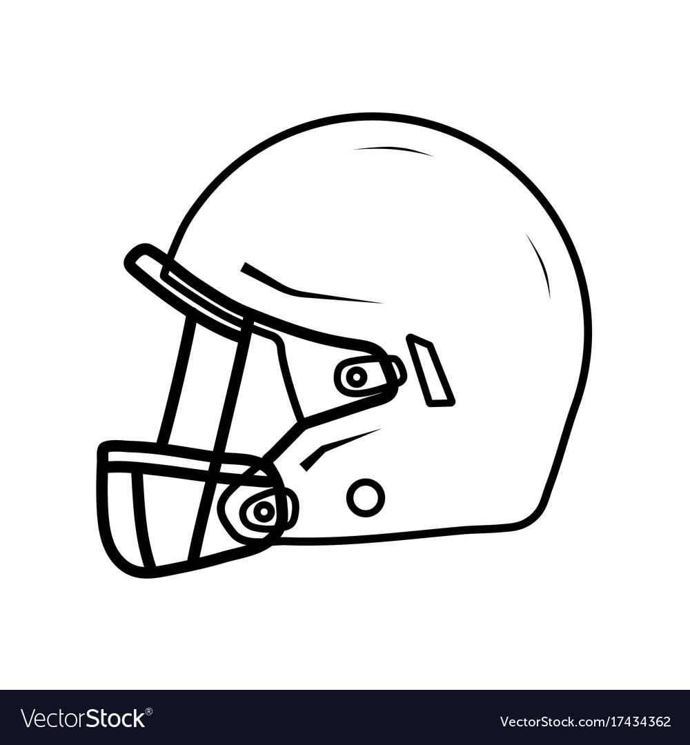 American football helmet side view