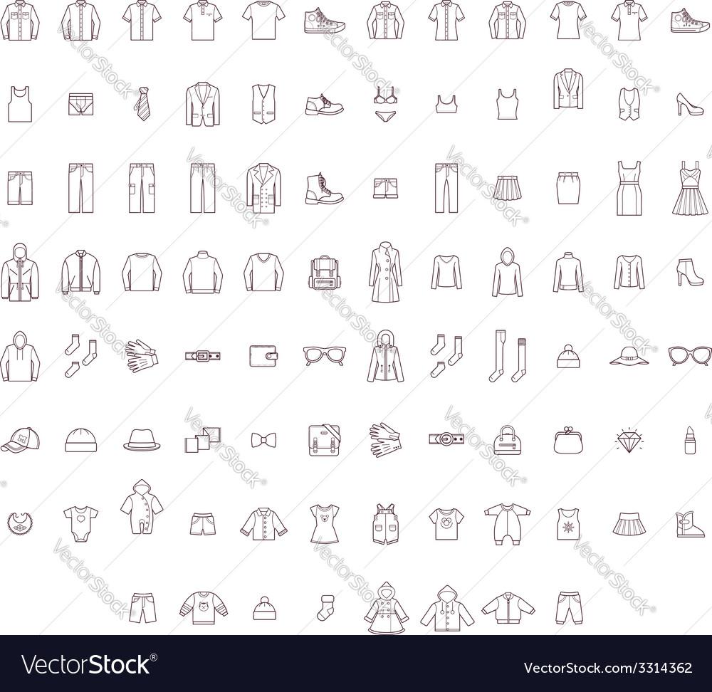 Big clothes set vector image