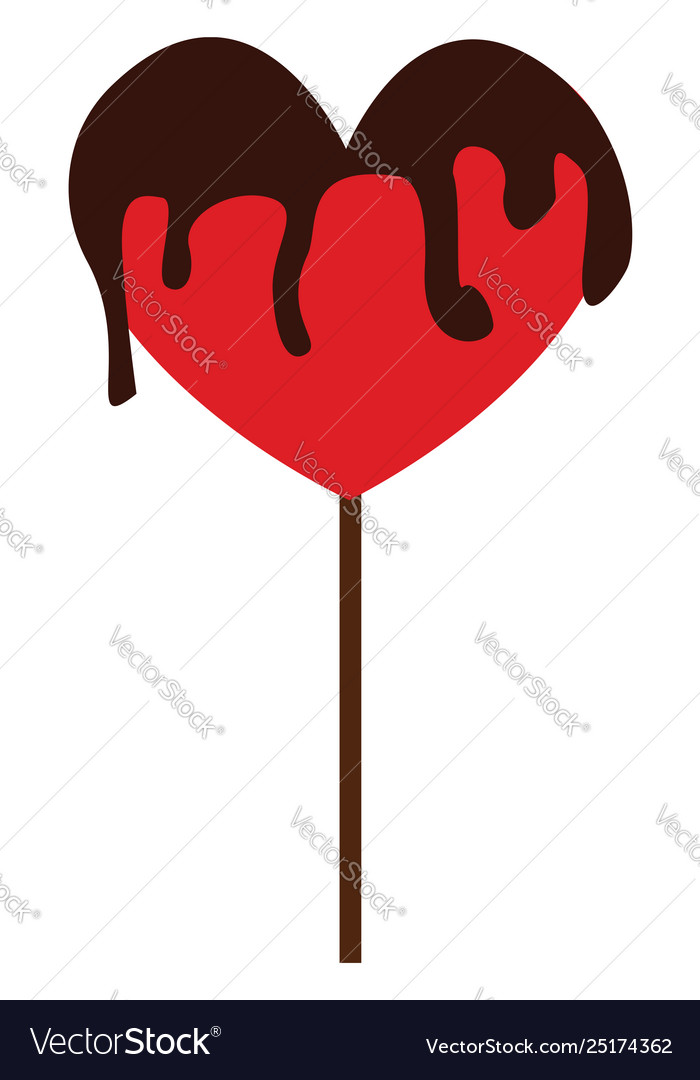 Candy red. Clipart a colored heart