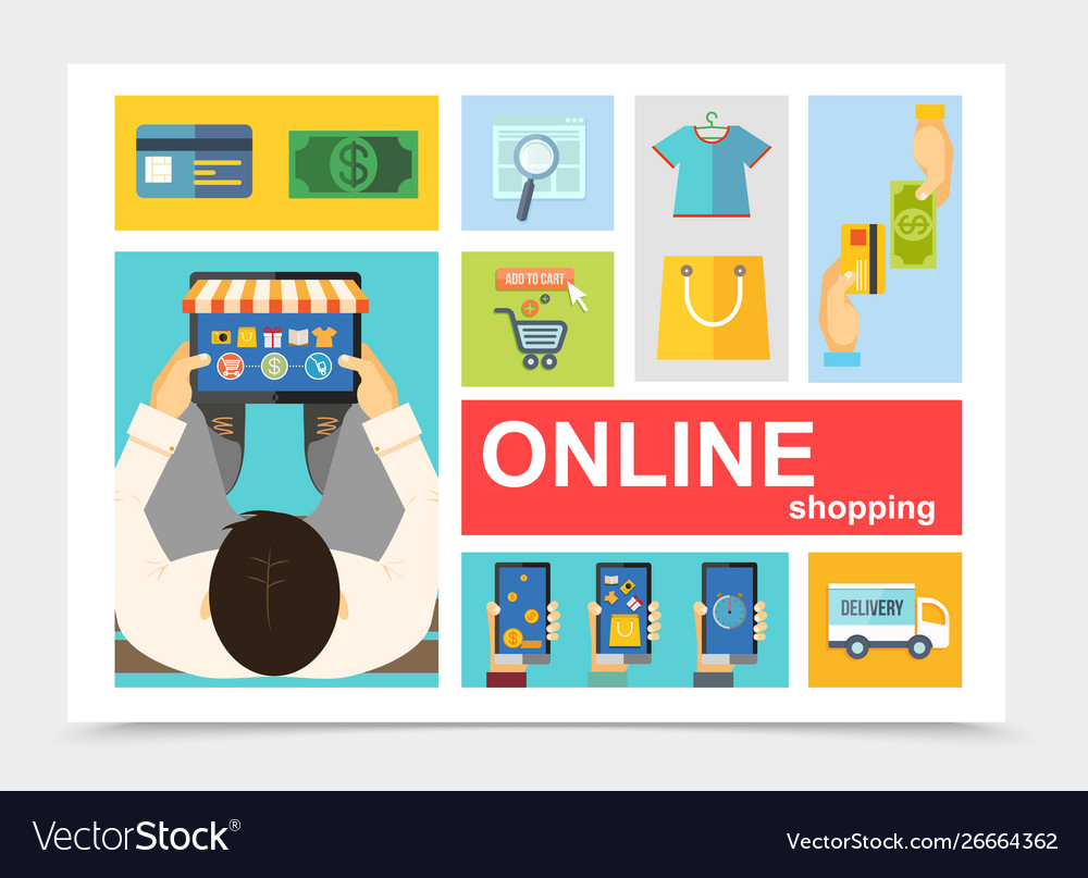 Flat online shopping composition