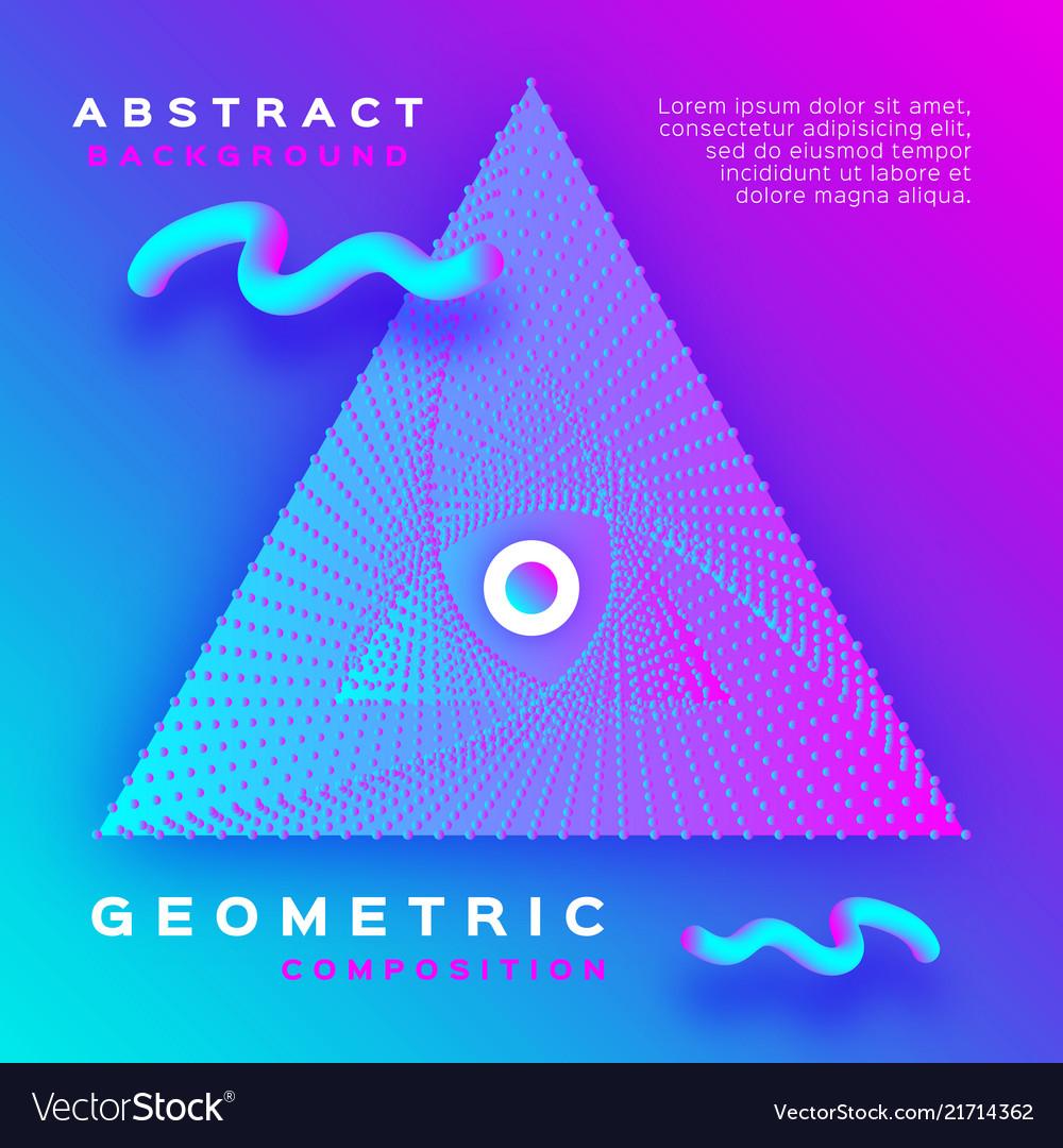 Minimal geometric background dynamic shapes