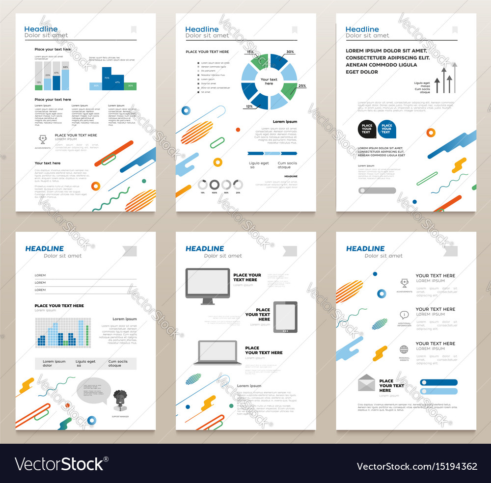 Presentation booklets - template a4 pages