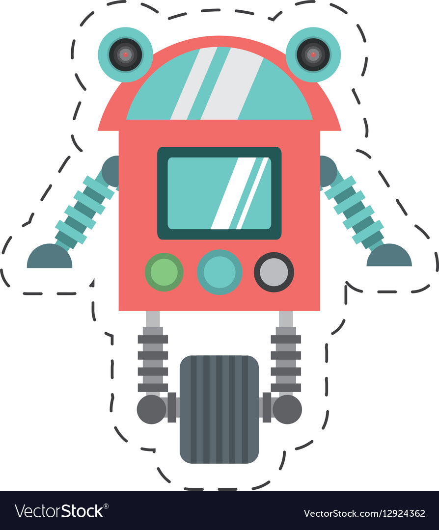 Robot cyborg machine futuristic cutting line