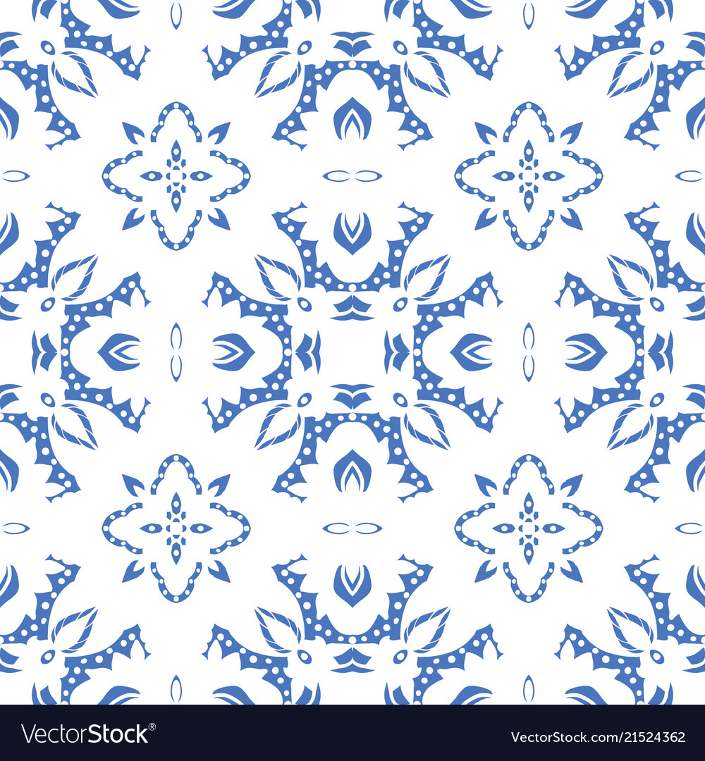 Seamless pattern with arabesques in retro style