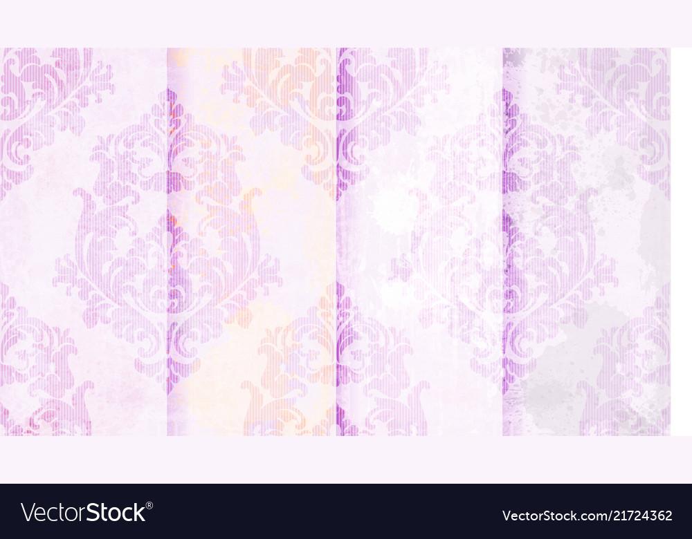 Vintage baroque pattern set beautiful