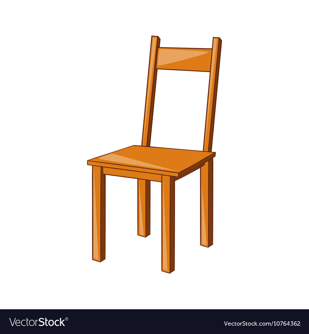 Wooden chair icon cartoon style Royalty Free Vector Image