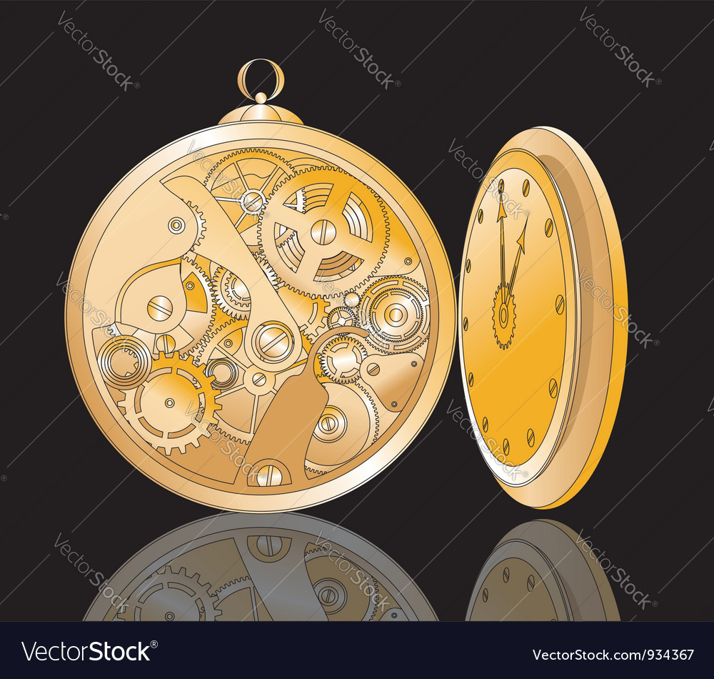 Clockwork vector image