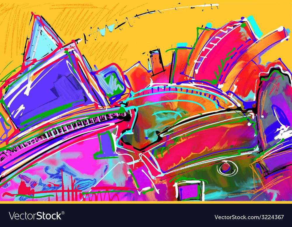 Original of abstract art digital painting