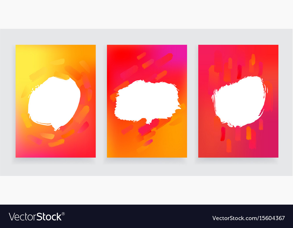 Set of three one style banners with abstract