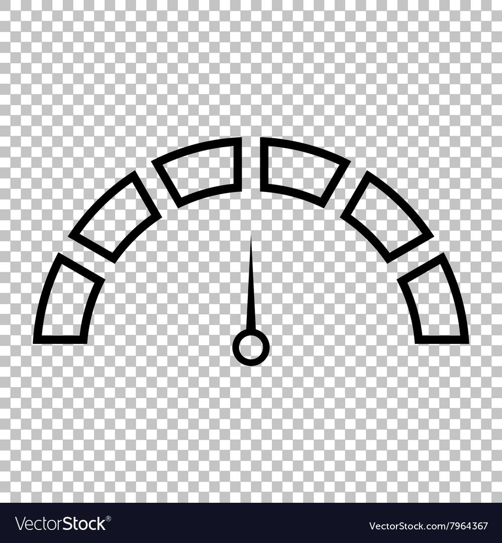 Speedometer sign Line icon