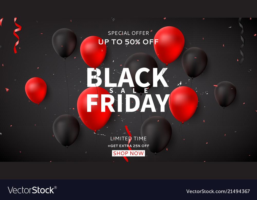 Web banner for black friday sale