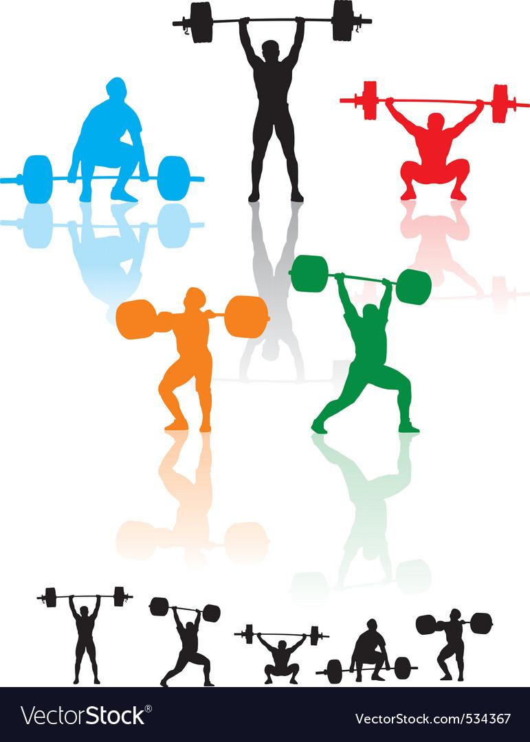 Weightlifters vector image