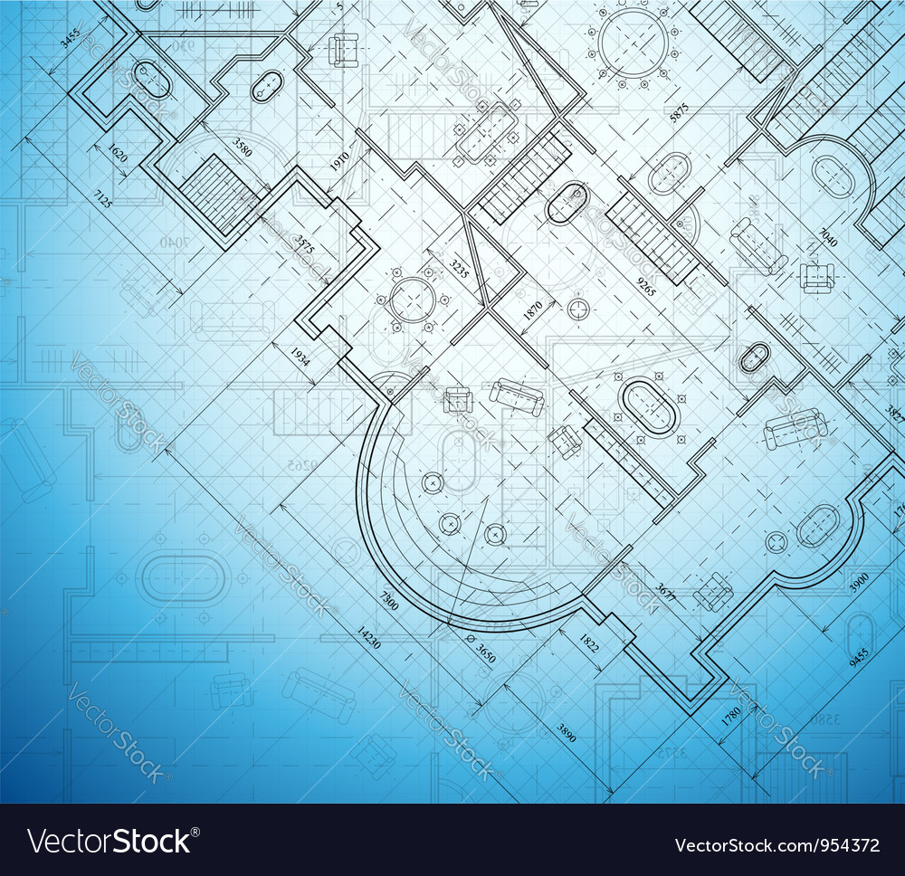 Architectural project vector image