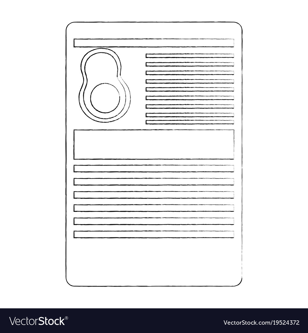 avocado nutrition facts label template royalty free vector