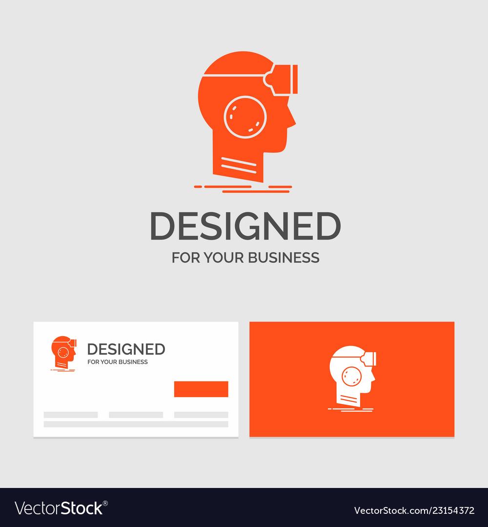 business logo template for vr googles headset vector image