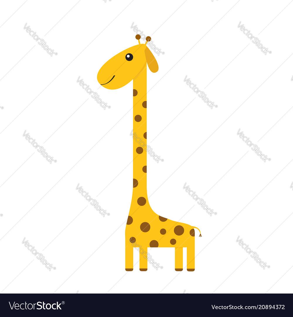 Giraffe with spot zoo animal cute cartoon