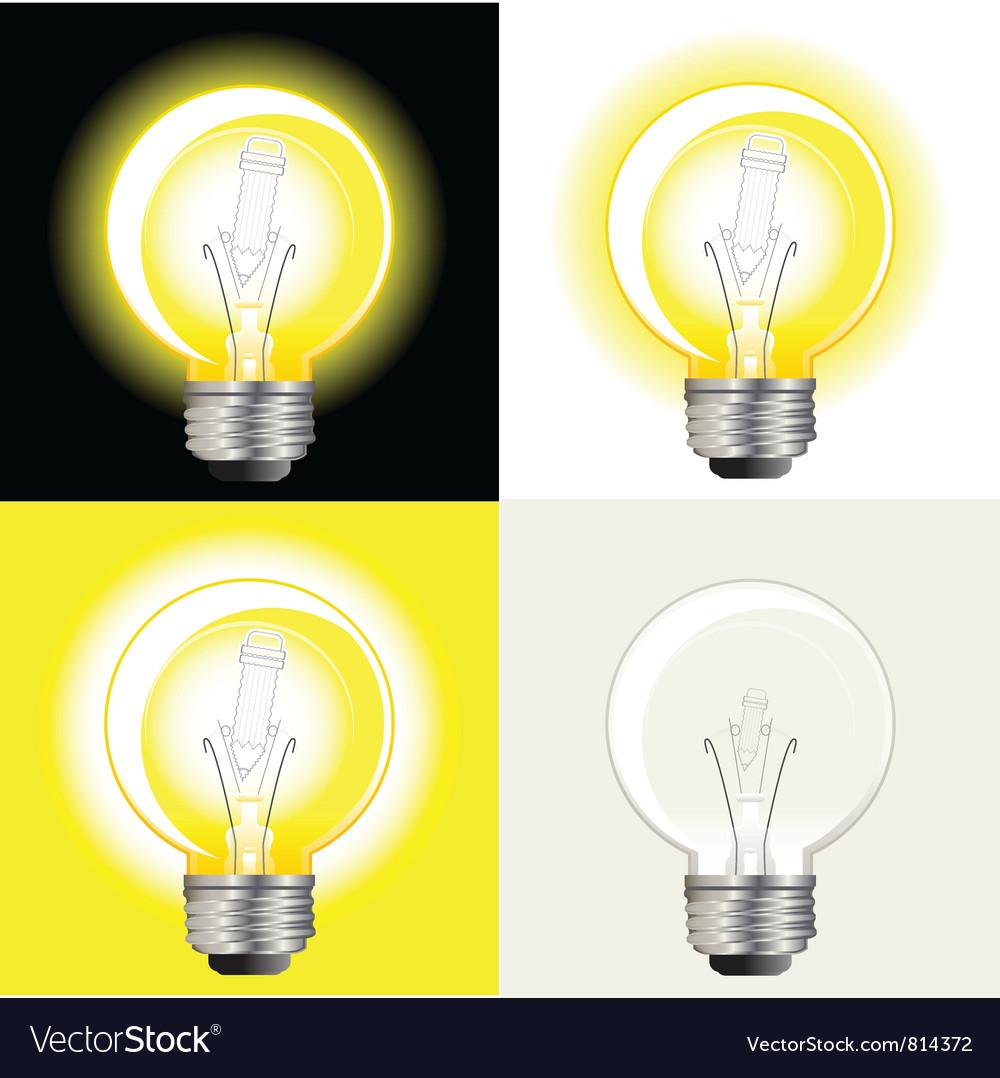 Light bulb inspiration vector image