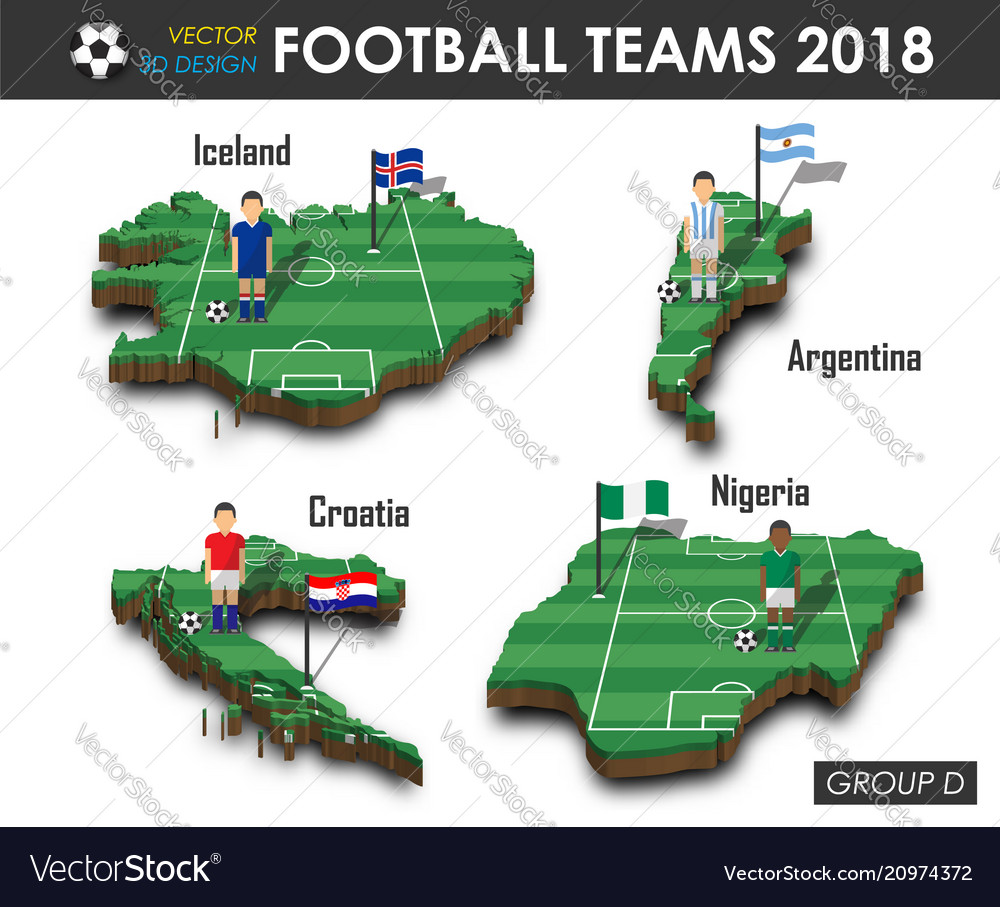 National soccer teams 2018 group d football