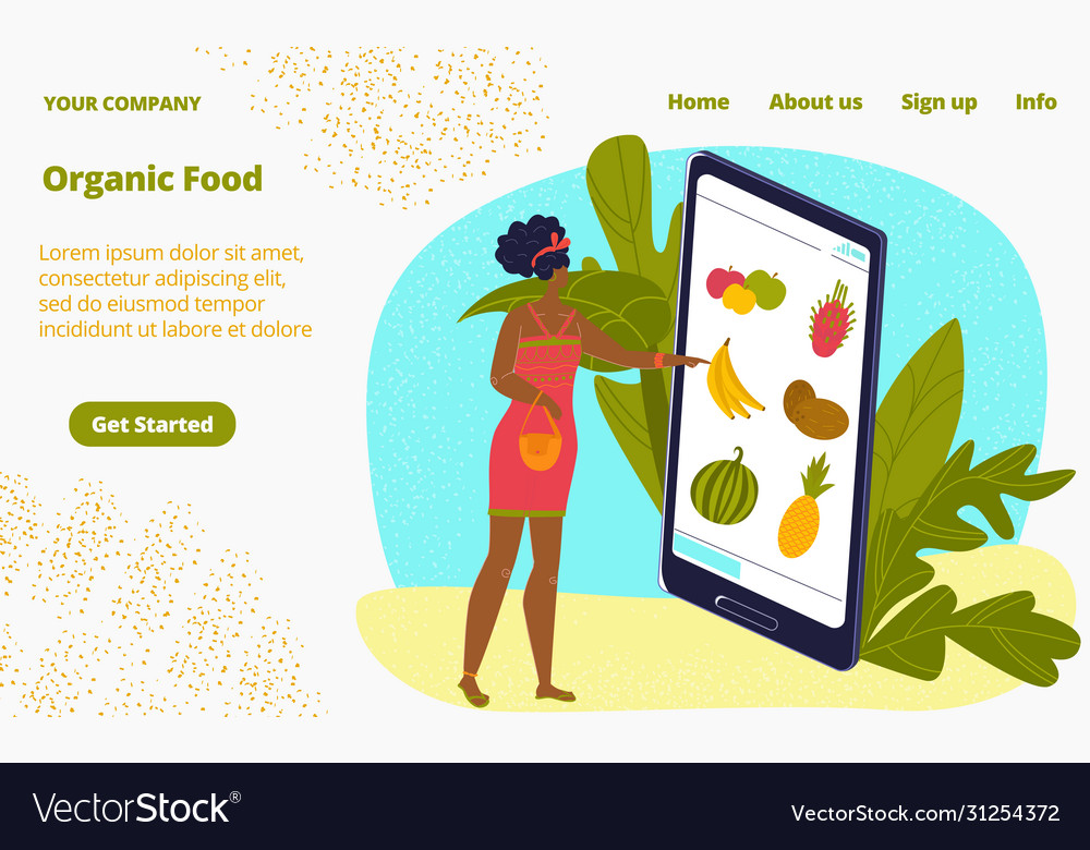 Online organic shop food delivery healthy fruits
