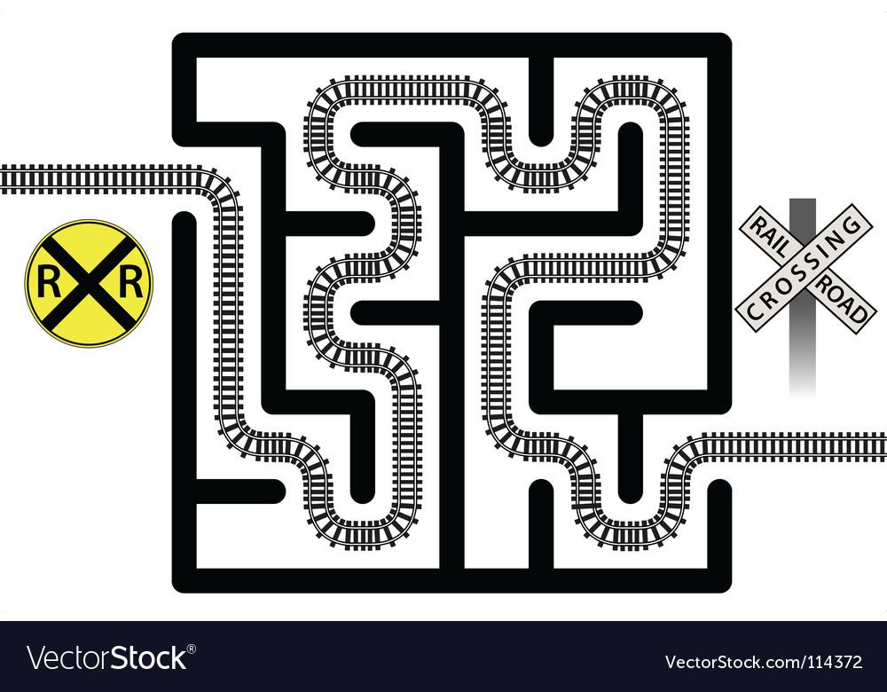 Railroad maze vector image