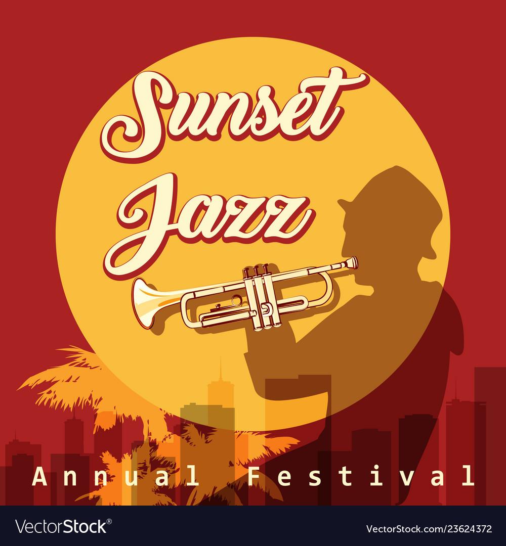 Sunset jazz festival emblem