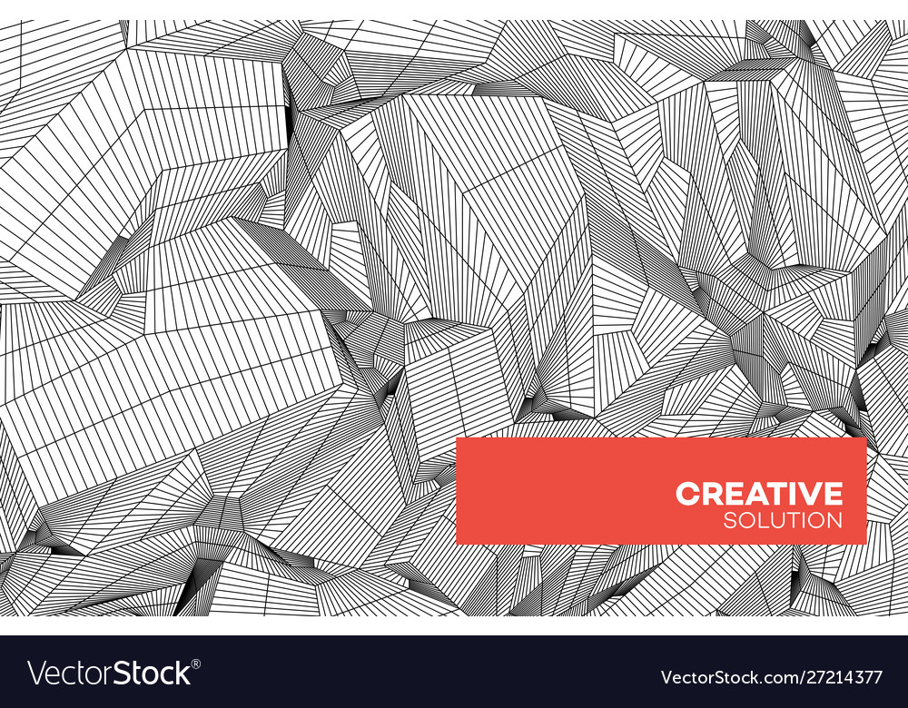 Abstract geometric composition with decorative