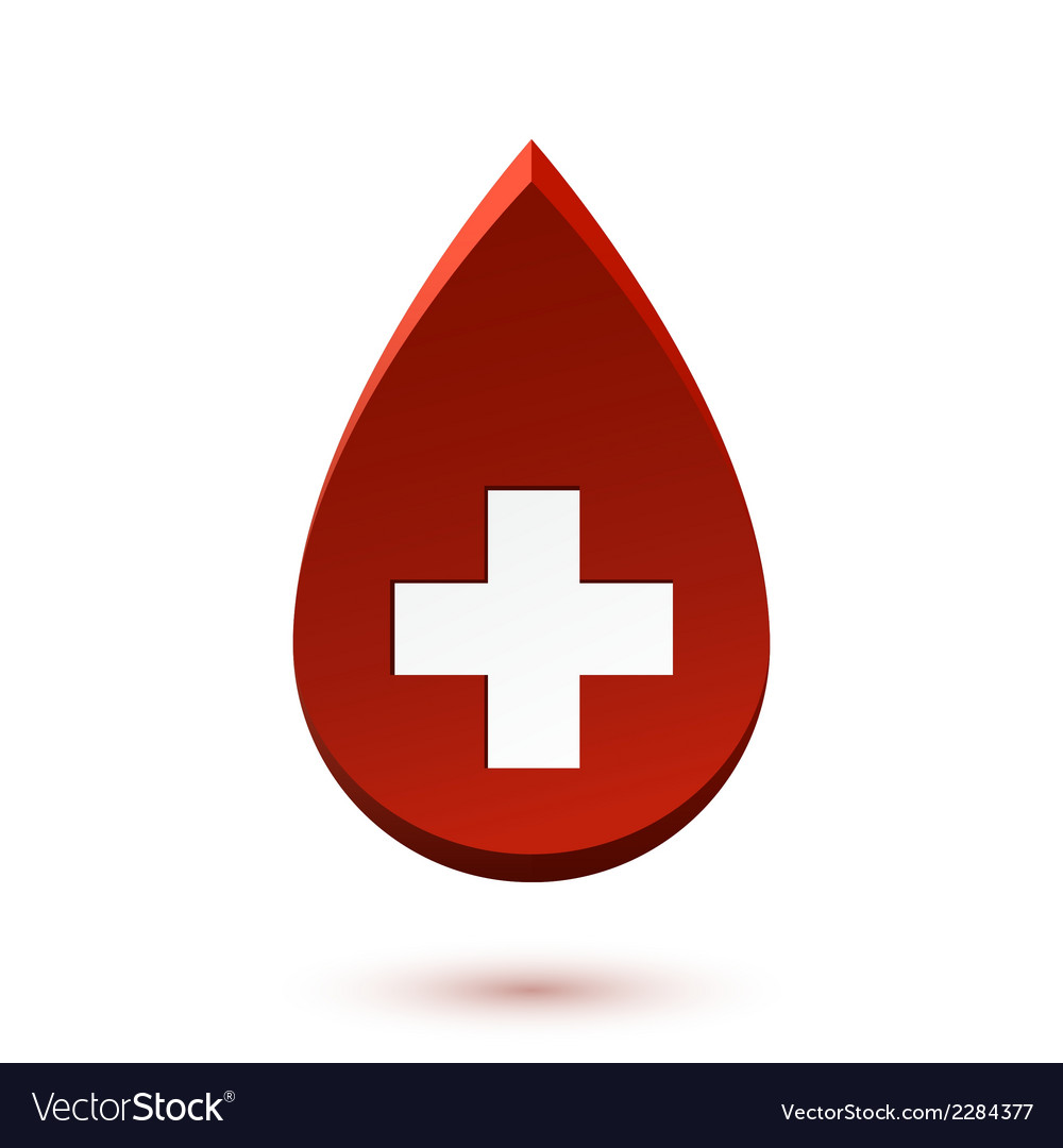 Abstract Red Drop Medical Symbol Royalty Free Vector Image
