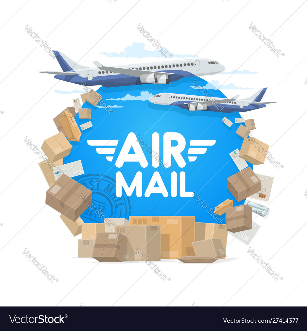Air mail and shipping parcels and letters