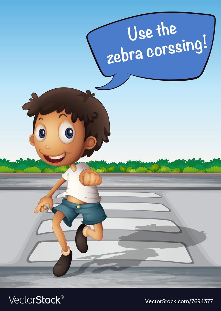 Zebra Crossing Boy Vector Images 69