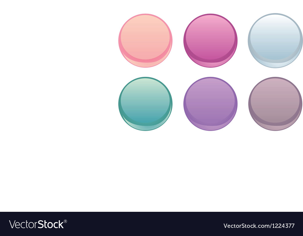 Colorful web buttons isolated on white set