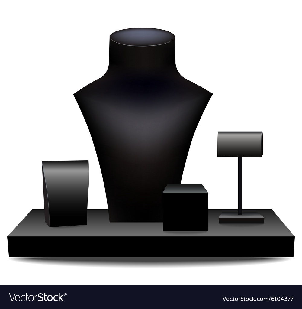 Dummies for jewelry vector image